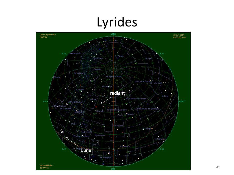 Lyrides 41 radiant Lune