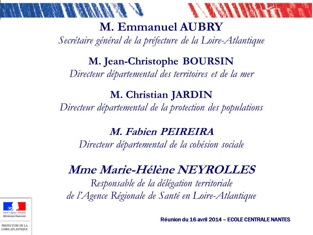M. Emmanuel AUBRY Secrétaire général de la préfecture de la Loire-Atlantique M.