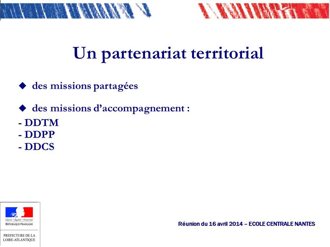 des missions partagées des missions daccompagnement : - DDTM - DDPP - DDCS Un partenariat territorial