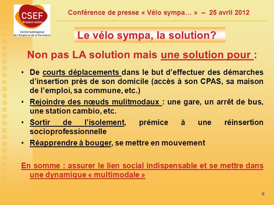 Conférence de presse « Vélo sympa… » – 25 avril 2012 10 3.