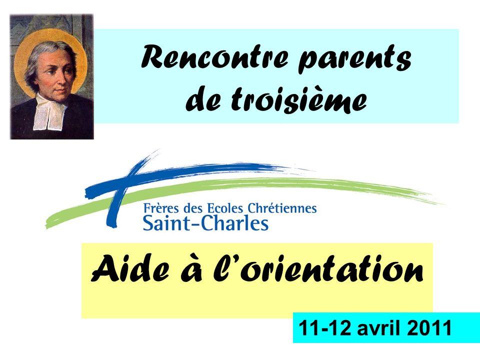Rencontre parents de troisième Aide à lorientation 11-12 avril 2011