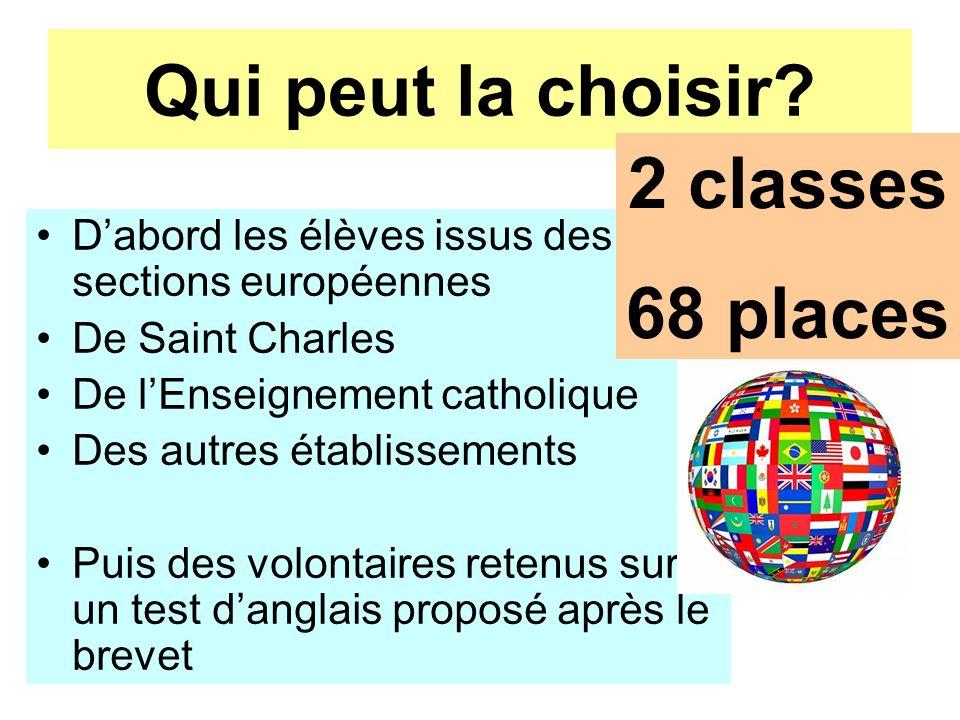 jp Houël 11-12 avril Qui peut la choisir? Dabord les élèves issus des sections européennes De Saint Charles De lEnseignement catholique Des autres éta
