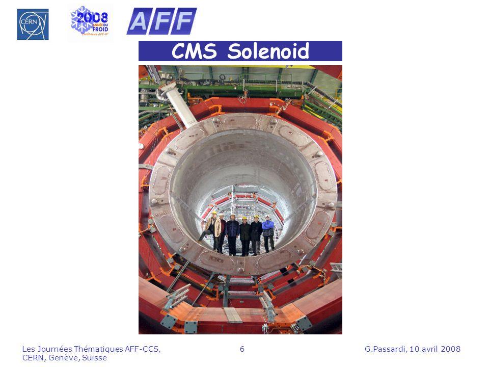 G.Passardi, 10 avril 2008Les Journées Thématiques AFF-CCS, CERN, Genève, Suisse 6 CMS Solenoid
