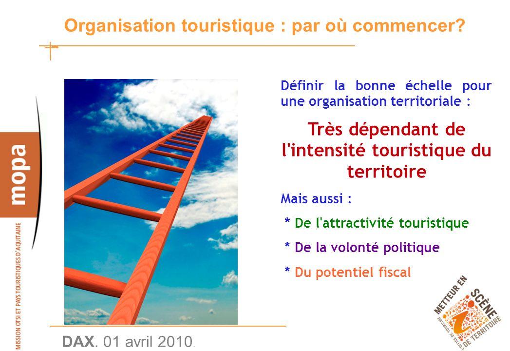 DAX. 01 avril 2010. 28 Organisation touristique : par où commencer.