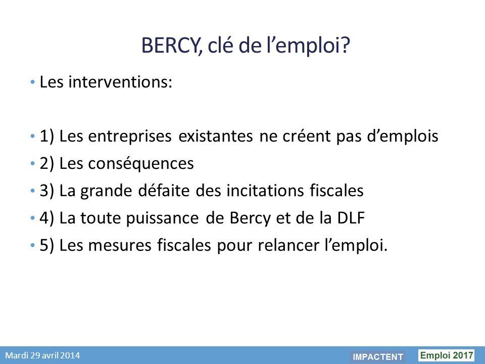 Mardi 29 avril 2014 BERCY, clé de lemploi.