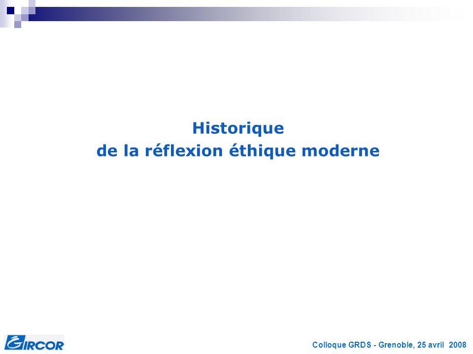 Colloque GRDS - Grenoble, 25 avril 2008 Les fondements éthiques de lexpérimentation animale en France
