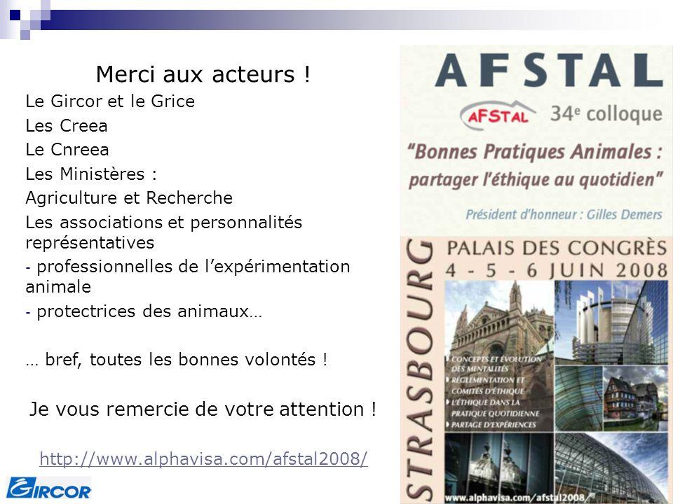 Colloque GRDS - Grenoble, 25 avril 2008 Merci aux acteurs ! Le Gircor et le Grice Les Creea Le Cnreea Les Ministères : Agriculture et Recherche Les as