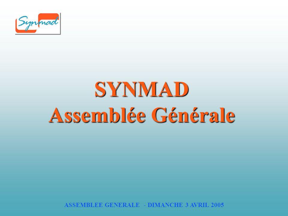 ASSEMBLEE GENERALE - DIMANCHE 3 AVRIL 2005 SYNMAD Assemblée Générale