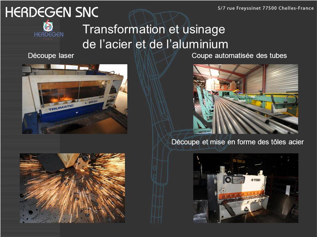 Transformation et usinage de lacier et de laluminium Découpe laser Découpe et mise en forme des tôles acier Coupe automatisée des tubes
