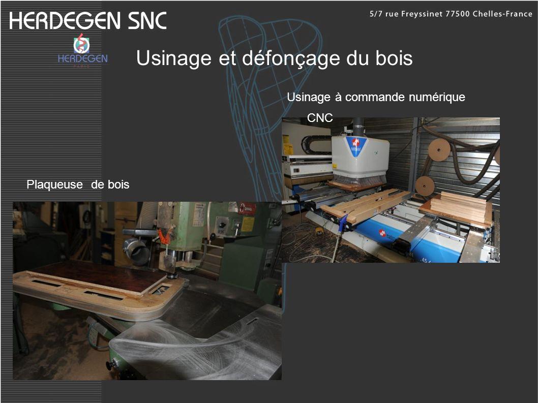Usinage et défonçage du bois Usinage à commande numérique CNC Plaqueuse de bois