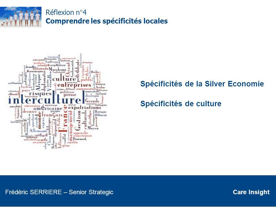 Réflexion n°4 Comprendre les spécificités locales Spécificités de la Silver Economie Spécificités de culture Frédéric SERRIERE Senior Strategic Frédér