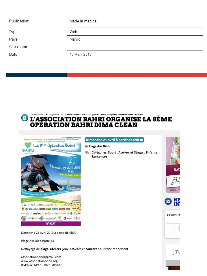 Publication:Slate Afrique TypeWeb Pays :Maroc Circulation: Date16 Avril 2013