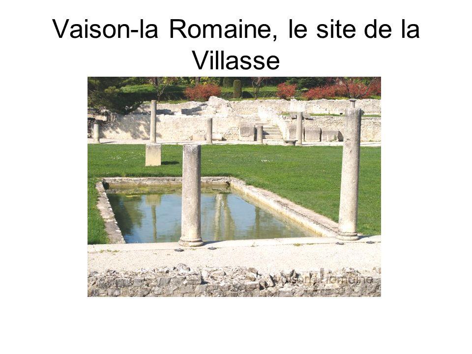 Vaison-la Romaine, le site de la Villasse