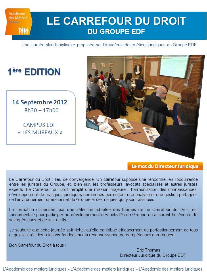 8h 00 : Accueil des participants 9h 00: Assemblée plénière Les prérogatives des autorités de régulation et les droits des parties Not.