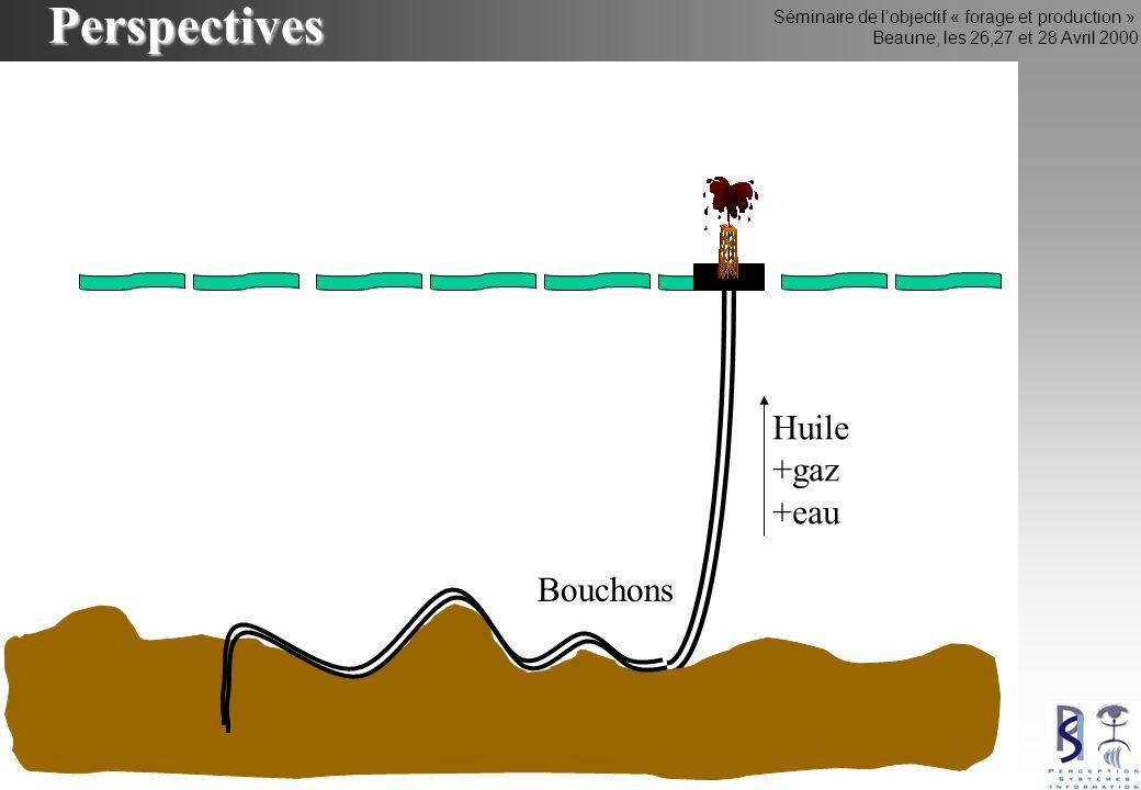 Séminaire de lobjectif « forage et production » Beaune, les 26,27 et 28 Avril 2000Perspectives Huile +gaz +eau Bouchons