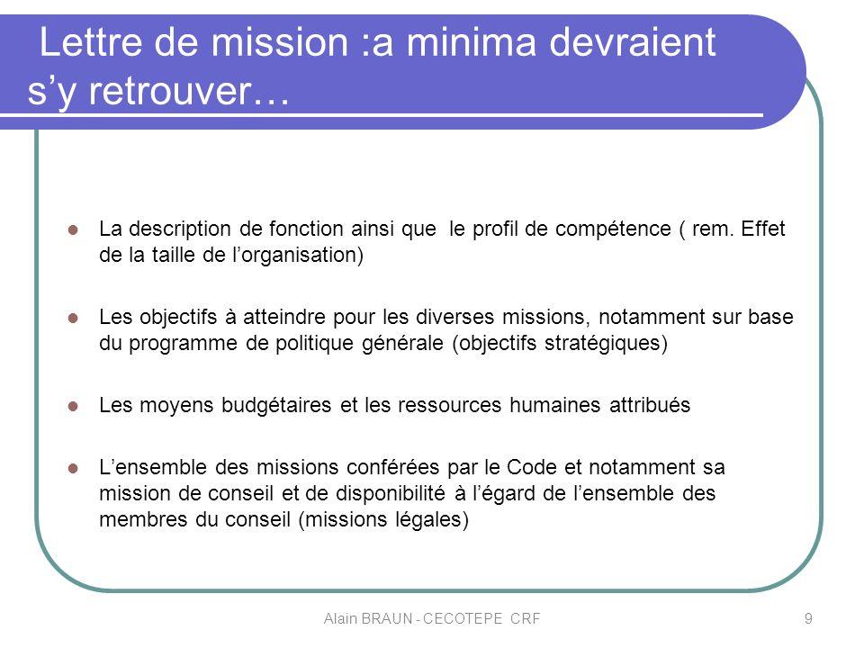 Lettre de mission :a minima devraient sy retrouver… La description de fonction ainsi que le profil de compétence ( rem. Effet de la taille de lorganis