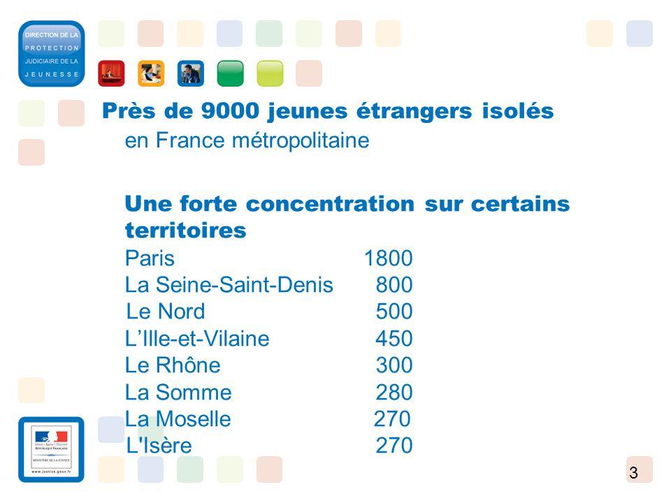 3 Près de 9000 jeunes étrangers isolés en France métropolitaine Une forte concentration sur certains territoires Paris 1800 La Seine-Saint-Denis 800 L
