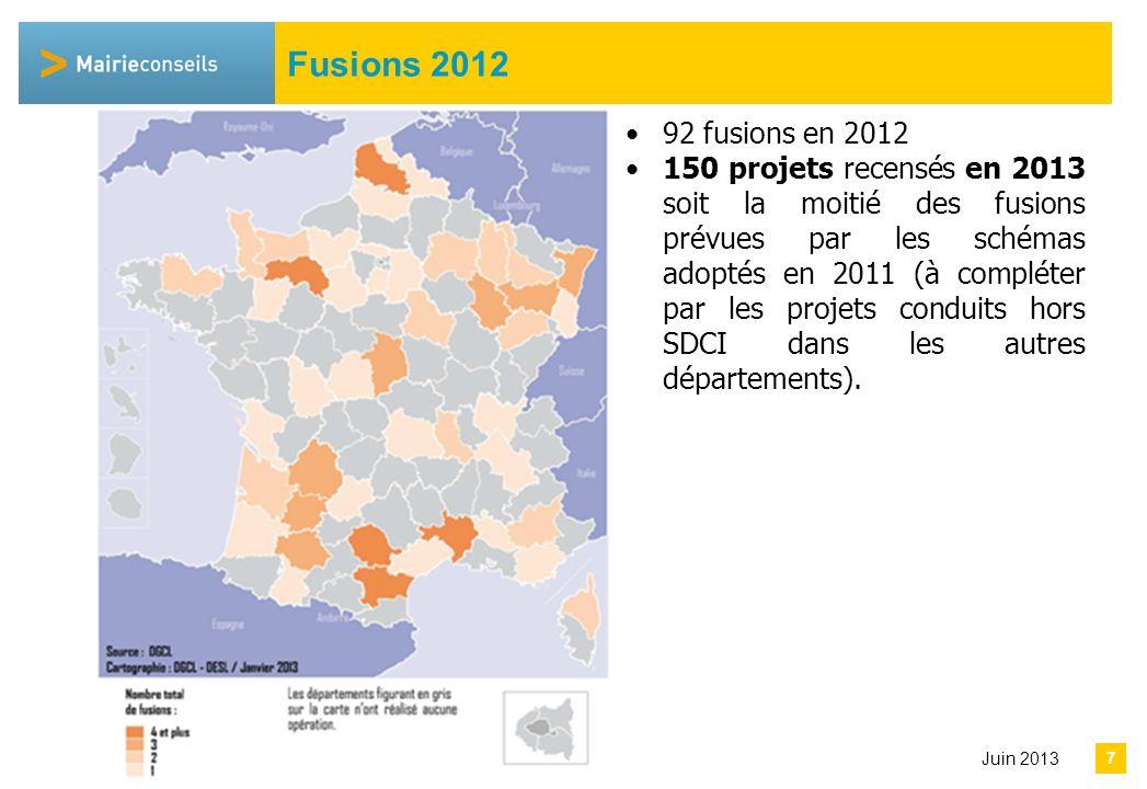 Avril 2013 Communes isolées et syndicats Communes isolées 614 communes dont 51 en Petite Couronne Syndicats 334 dissolutions et 58 fusions en 2012.