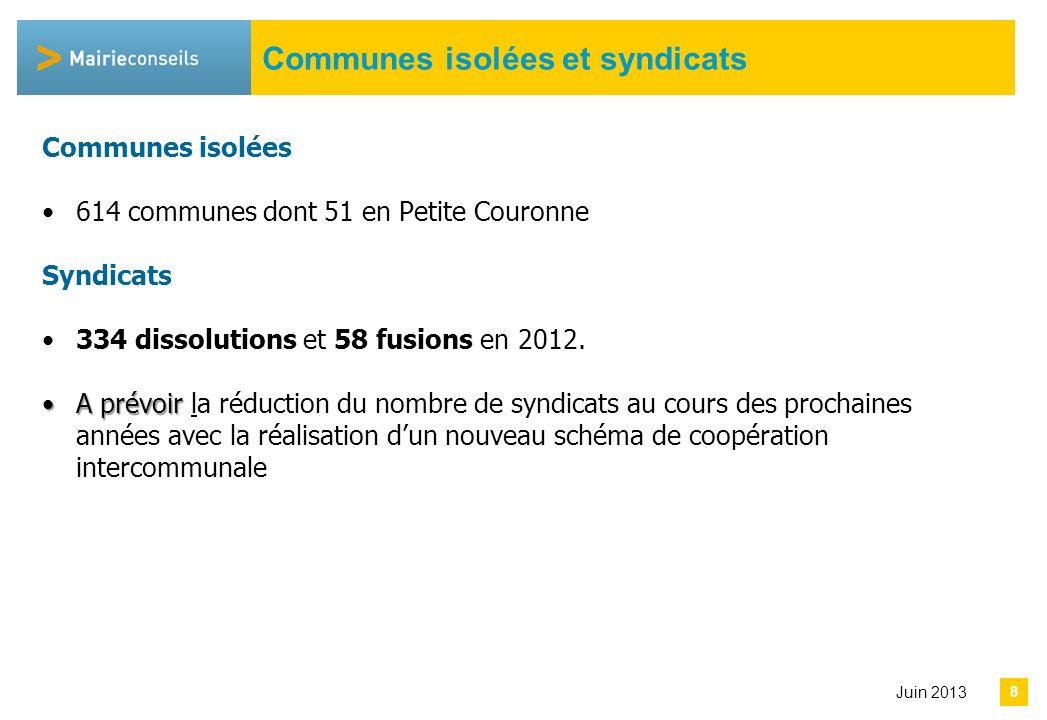 Avril 2013 Bilan des SDCI 66 SDCI arrêtés par les préfets avant la date limite du 31/12/ 2011.