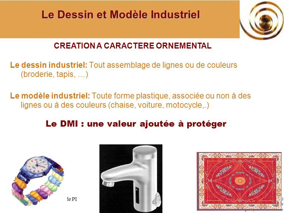 Le dessin industriel: Tout assemblage de lignes ou de couleurs (broderie, tapis, …) Le modèle industriel: Toute forme plastique, associée ou non à des