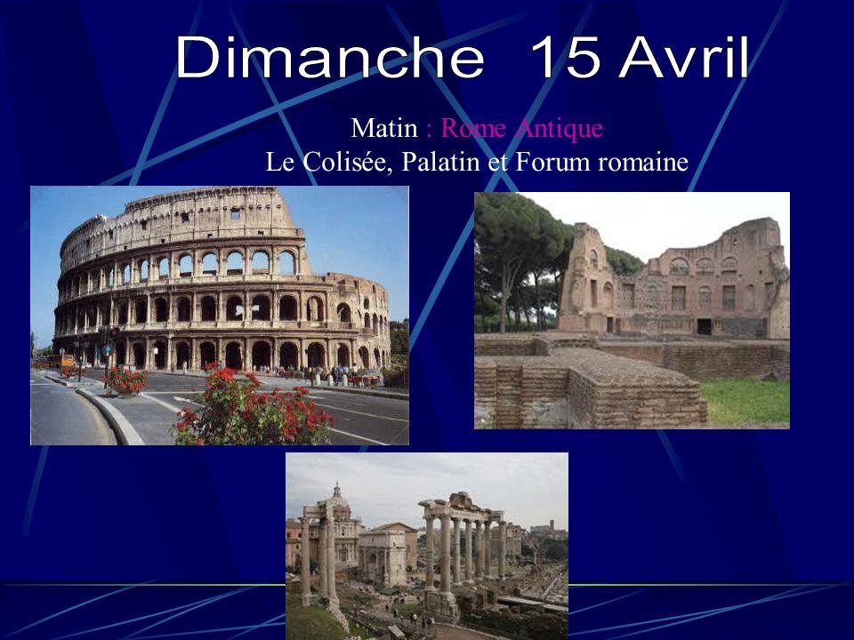 Matin : Rome Antique Le Colisée, Palatin et Forum romaine