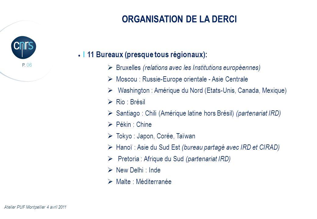 P. 06 I 11 Bureaux (presque tous régionaux): Bruxelles (relations avec les Institutions européennes) Moscou : Russie-Europe orientale - Asie Centrale