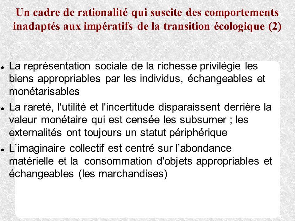 Un cadre de rationalité qui suscite des comportements inadaptés aux impératifs de la transition écologique (2) La représentation sociale de la richess