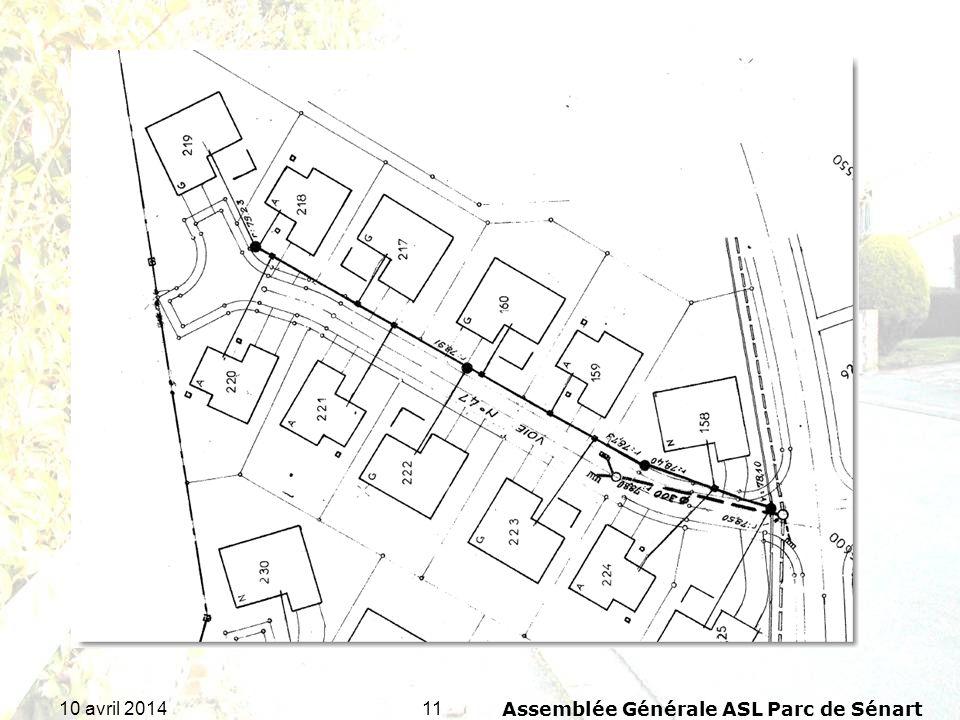 1110 avril 2014Assemblée Générale ASL Parc de Sénart