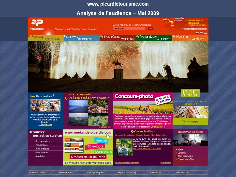 www. picardietourisme.com Analyse de laudience – Mai 2009
