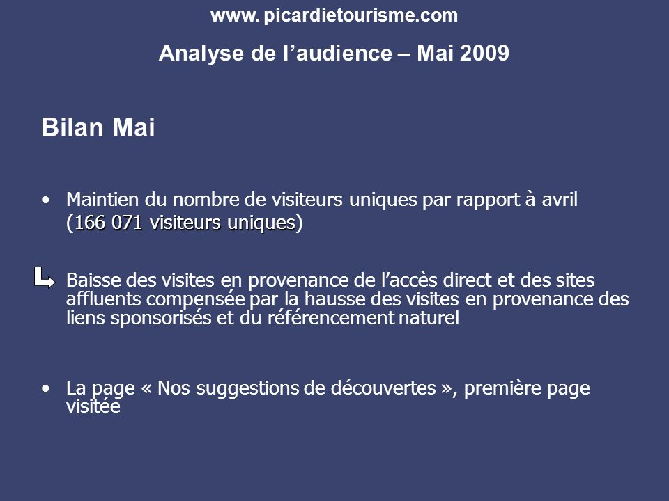 www.espritdepicardie.com Analyse de laudience – Mai 2009
