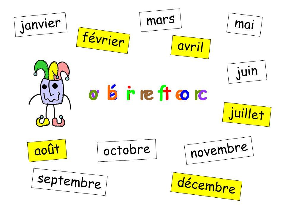c e d m b é r e janvier février mars avril mai juin juillet août septembre octobre novembre décembre v é i r f e r