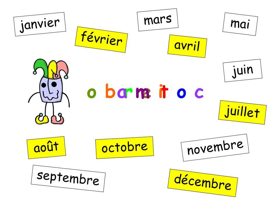 v é i r f e r janvier février mars avril mai juin juillet août septembre octobre novembre décembre o b r e t o c