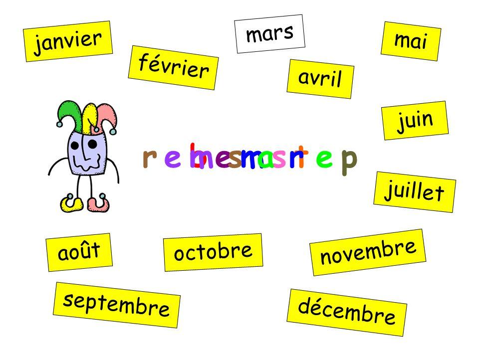 e m n r e b o v r e b e m s t e p janvier février mars avril mai juin juillet août septembre octobre novembre décembre