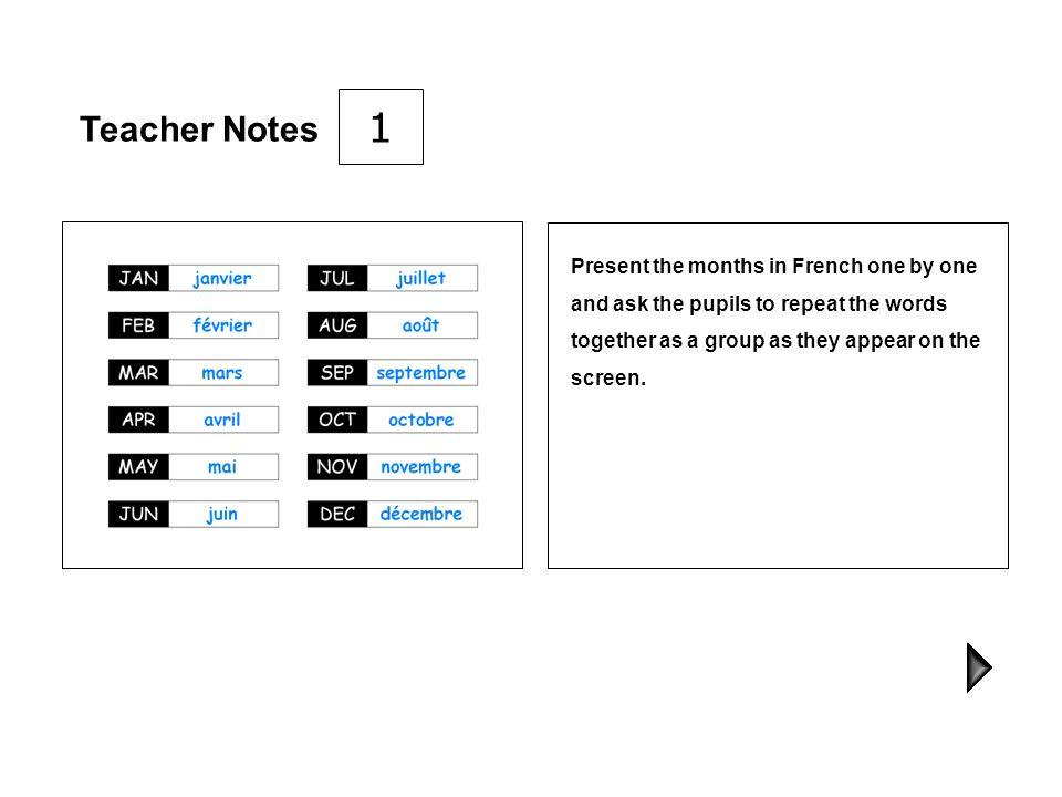 Teacher Notes PowerPoint 2 Months