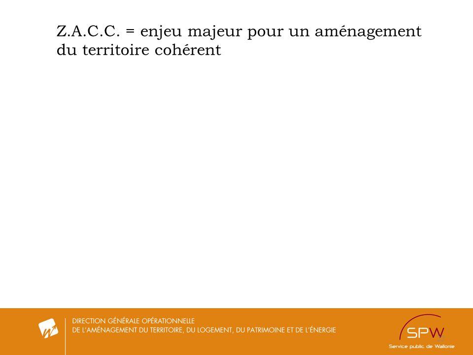 22 Z.A.C.C. = enjeu majeur pour un aménagement du territoire cohérent