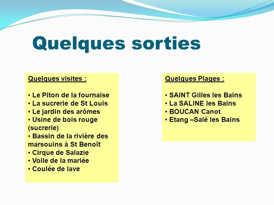 Quelques sorties Saint Denis Le Piton de la fournaise Salazie