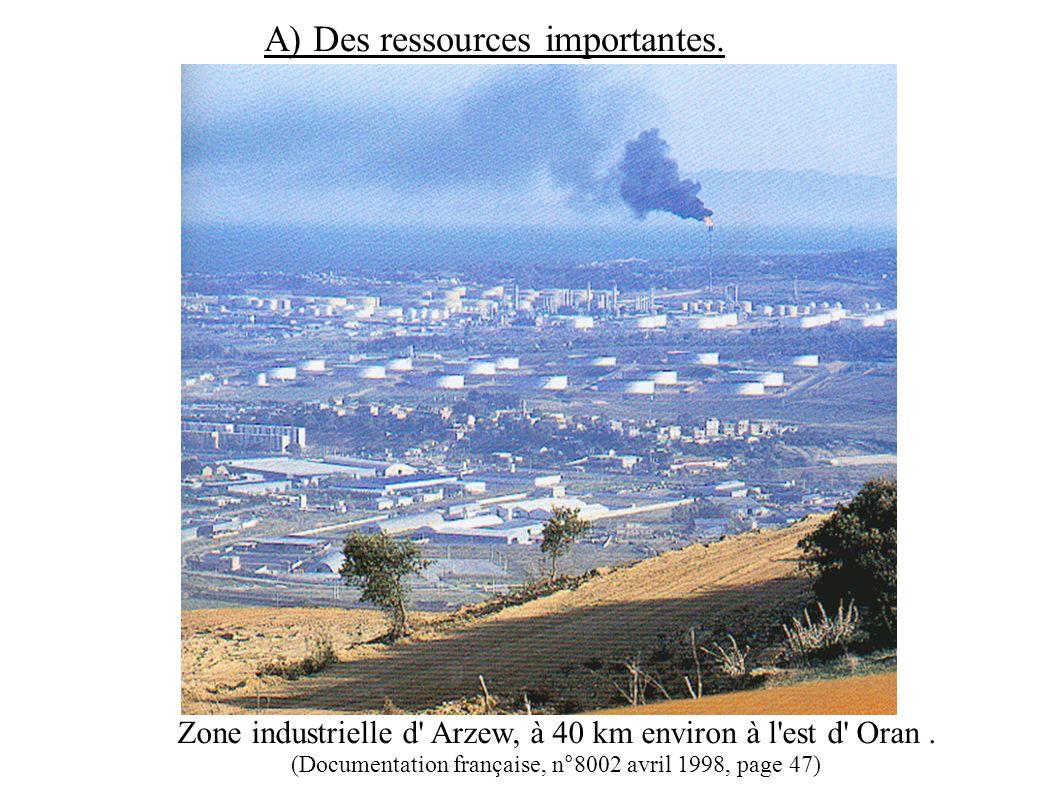 Zone industrielle d Arzew, à 40 km environ à l est d Oran.