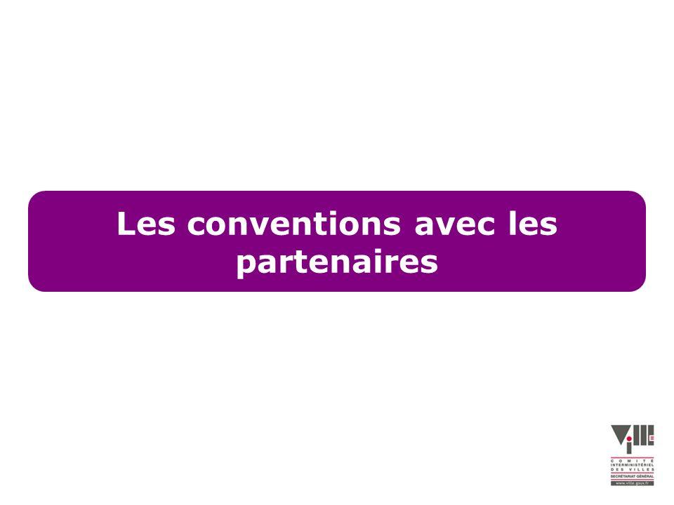 Les conventions avec les partenaires