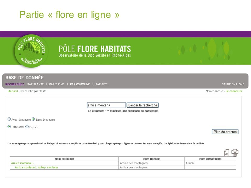 Plateforme web