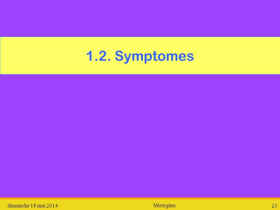 1.2. Symptomes dimanche 18 mai 2014Méningites23