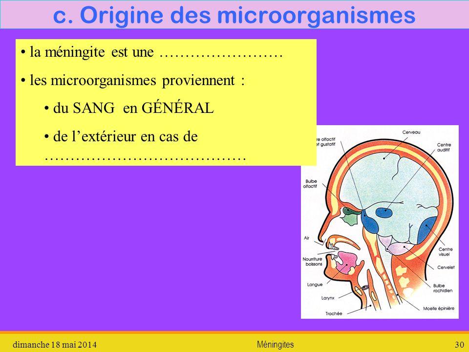2. lexamen du LCR dimanche 18 mai 2014Méningites31