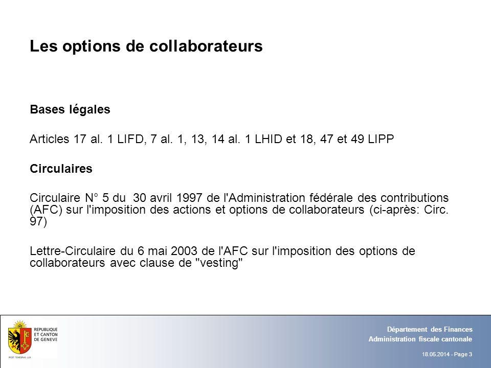 18.05.2014 - Page 24 Administration fiscale cantonale Département des Finances L imposition des frontaliers Changement de pratique suite aux arrêts des 9 février 2009 (RDAF 2010 II, p.