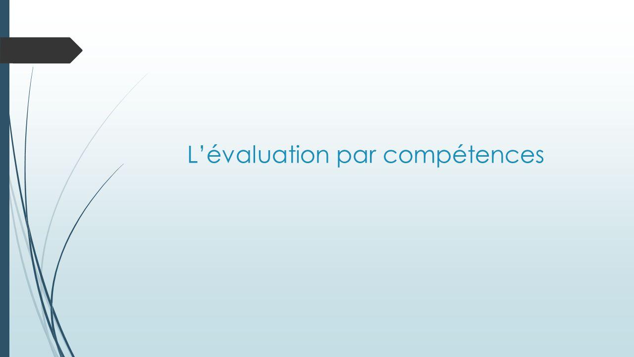 Lévaluation par compétences