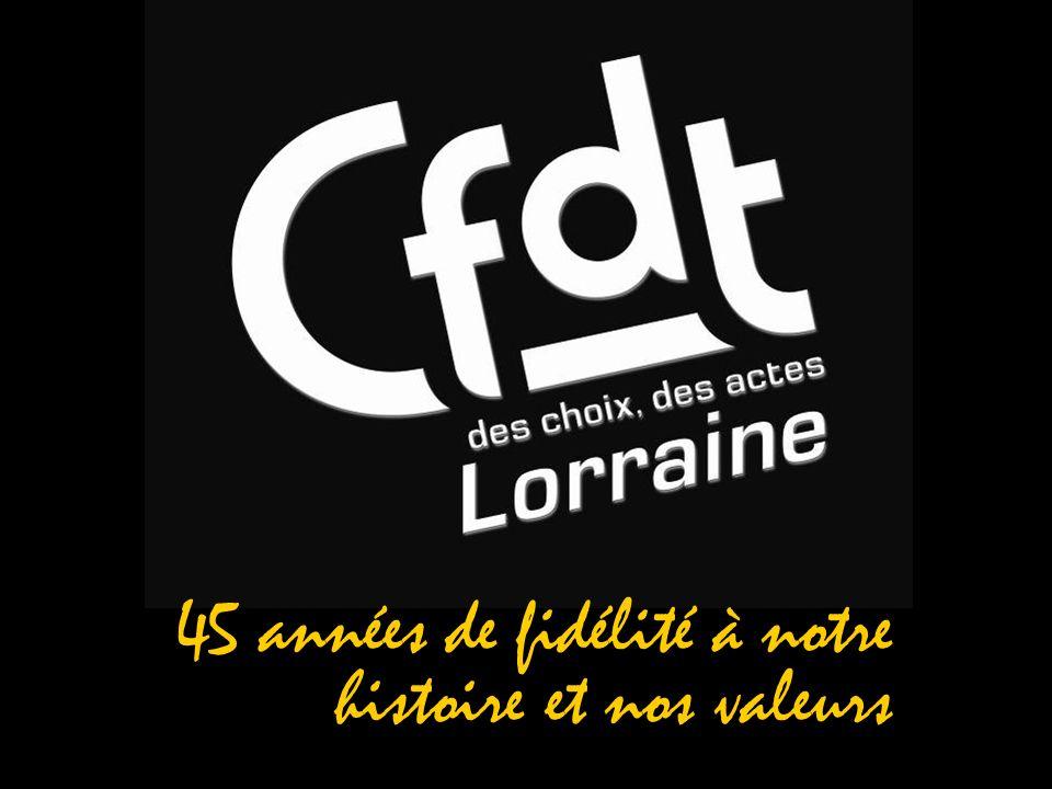 1964-2009 La CFTC en Lorraine 1919 La place particulière des syndicats féminins Les premiers syndicats féminins, nés en 1899 en région lyonnaise, regroupés en 1917 dans deux fédérations, simplantent en juillet 1919 en Meurthe-et-Moselle