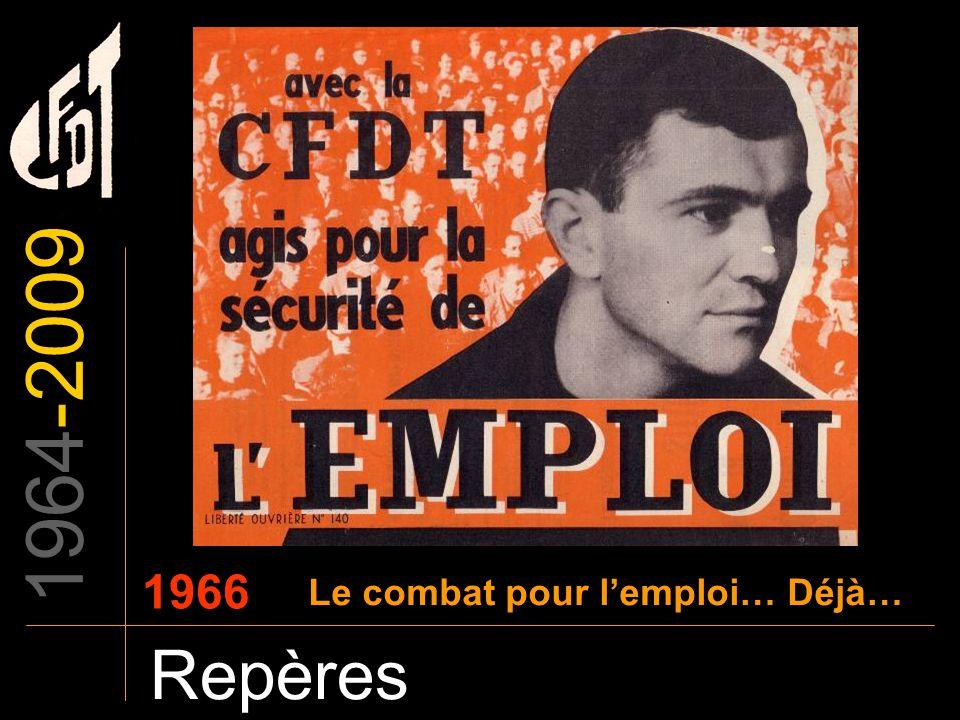 1964-2009 Repères 1966 Le combat pour lemploi… Déjà…