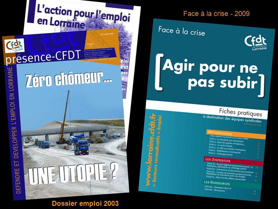 Dossier emploi 2003 Face à la crise - 2009
