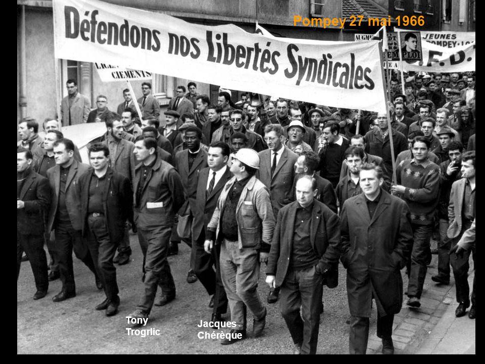 Tony Trogrlic Jacques Chérèque Pompey 27 mai 1966