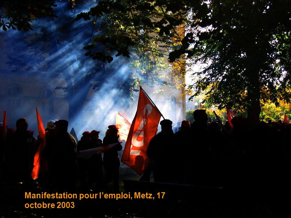 Manifestation pour lemploi, Metz, 17 octobre 2003