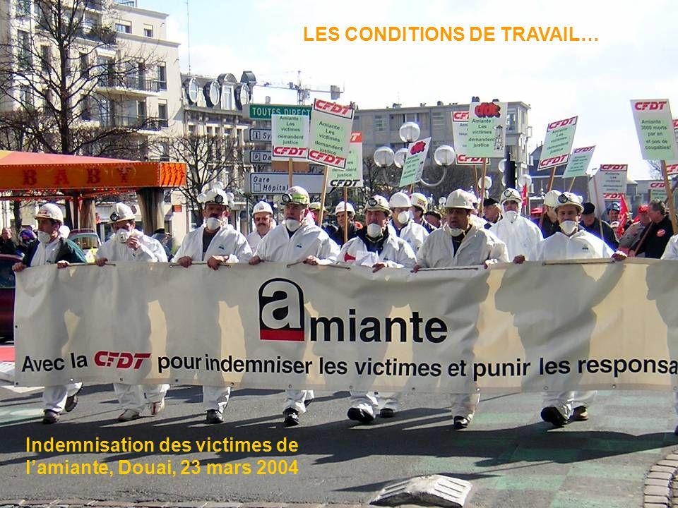 LES CONDITIONS DE TRAVAIL… Indemnisation des victimes de lamiante, Douai, 23 mars 2004