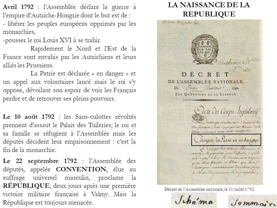 LE CONTEXTE DE LA LETTRE DE GAY-VERNON : lan II Lan II (septembre 1793-septembre 1794) voit : -le renforcement des lois du maximum -le renforcement de la loi contre les suspects.